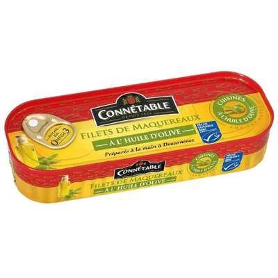 Филе скумбрии в оливковом масле-экстра Connetable 169 гр, фото 1