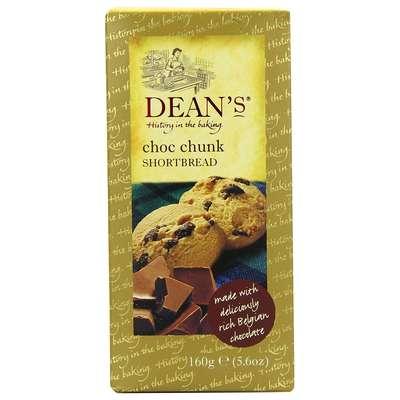 Сливочное печенье с кусочками шоколада Shortbread Choc Chunk Dean's 160 гр, фото 1