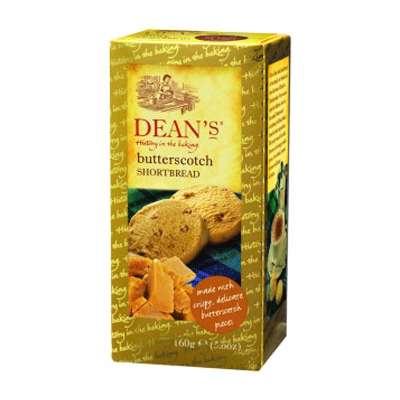 Сливочное печенье с карамелью Shortbread Butterscotch Dean's 160 гр, фото 1