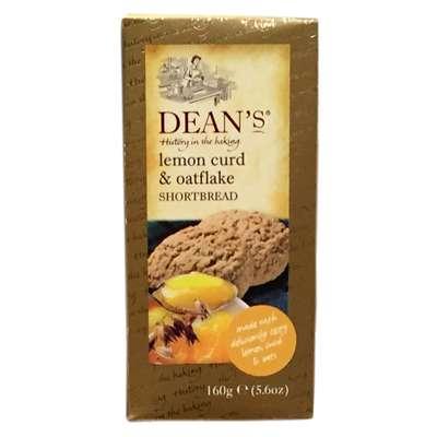 Сливочное печенье с лимоном и овсяными хлопьями Lemon Curd and Oatflake Dean's 160 гр, фото 2