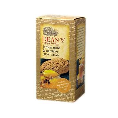 Сливочное печенье с лимоном и овсяными хлопьями Lemon Curd and Oatflake Dean's 160 гр, фото 1