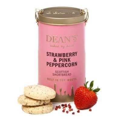 Сливочное печенье с клубникой и розовым перцем жестяная банка Shortbread Rounds Dean's 150 гр, фото 1