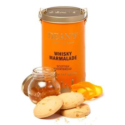 Сливочное печенье с апельсиновым мармеладом и виски в жестяной банке Dean's 150 гр, фото 1