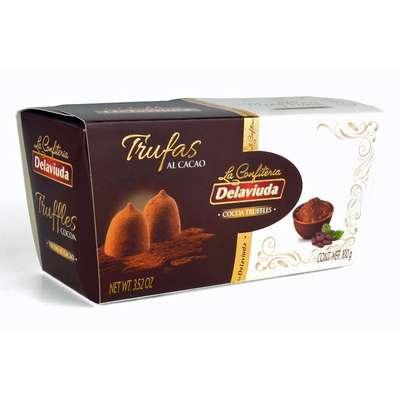 Трюфели какао со вкусом кофе Delaviuda 100 гр, фото 1