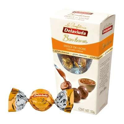 Шоколадные конфеты из молочного шоколада с карамелью Delaviuda 150 гр, фото 2