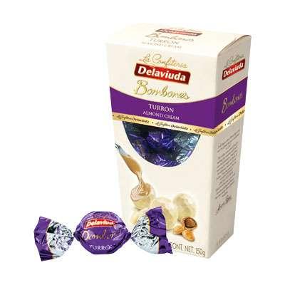 Шоколадные конфеты из белого шоколада с начинкой из миндаля Delaviuda 150 гр, фото 2