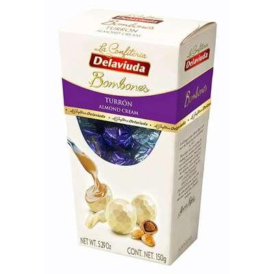 Шоколадные конфеты из белого шоколада с начинкой из миндаля Delaviuda 150 гр, фото 1