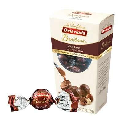 Шоколадные конфеты из молочного шоколада с фундуком Delaviuda 150 гр, фото 2