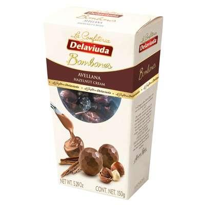Шоколадные конфеты из молочного шоколада с фундуком Delaviuda 150 гр, фото 1
