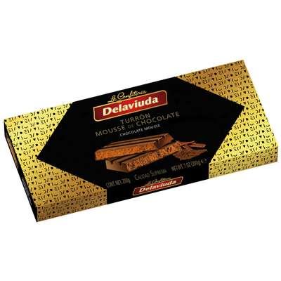 Шоколадный туррон с начинкой из шоколадного мусса Delaviuda 200 гр, фото 1