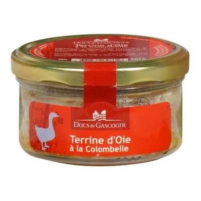 Паштет гусиный с добавлением вина Коломбель Ducs de Gascognе стекло 130 гр, фото 1