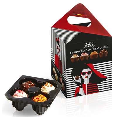Коробка конфет ассорти Модница Красная Cupcake Fashionista Chocolaterie ICKX 220 гр, фото 1