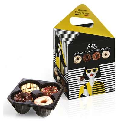 Коробка конфет ассорти Модница Желтая Donut Fashionista Chocolaterie ICKX 225 гр, фото 1