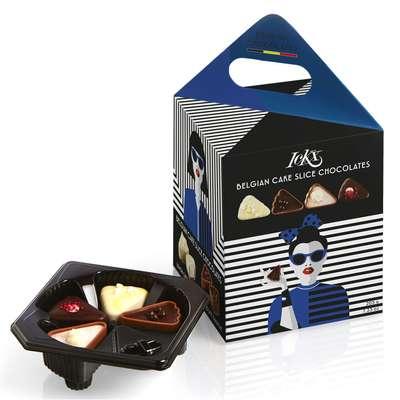 Коробка конфет ассорти Модница Синяя Cake Slice Fashionista Chocolaterie ICKX 205 гр, фото 1