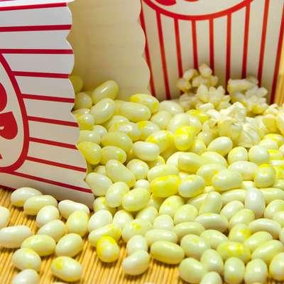 Коробочка конфет попкорн в масле Jelly Belly Buttered Popcorn 49 гр, фото 2