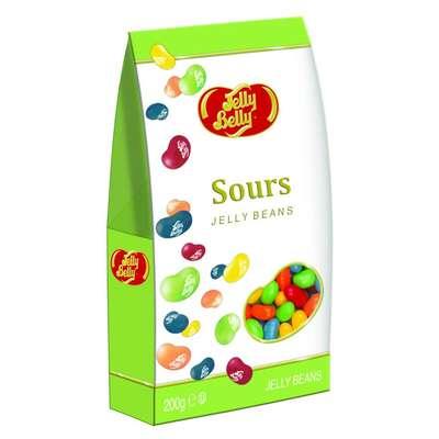 Драже жевательное ассорти кислые фрукты Jelly Belly 200 гр картонная коробка, фото 1