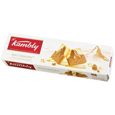 Печенье Matterhorn с шоколадно-сливочной начинкой и нугой в шоколаде Kambly 100 гр, фото 2