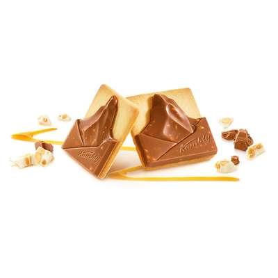 Печенье Matterhorn с шоколадно-сливочной начинкой и нугой в шоколаде Kambly 100 гр, фото 3