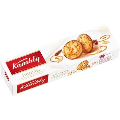 Печенье Florentin с миндалем в карамели с шоколадом Kambly 100 гр, фото 1