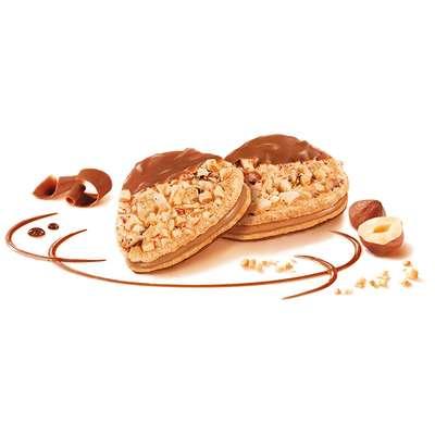 Печенье с кремом из фундука и шоколадом Eclats de noisettes Kambly 100 гр, фото 2
