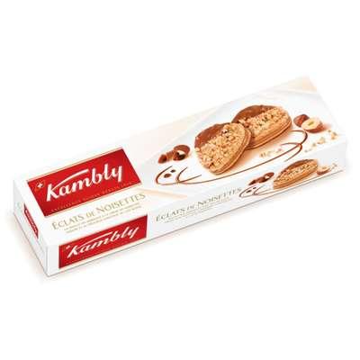 Печенье с кремом из фундука и шоколадом Eclats de noisettes Kambly 100 гр, фото 1