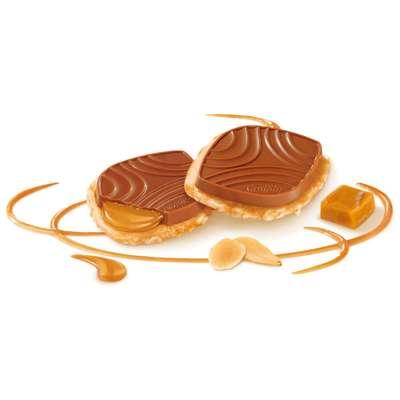 Печенье карамелизованное с солью и молочным шоколадом Caramel Pointe de Sel Kambly 100 гр, фото 2