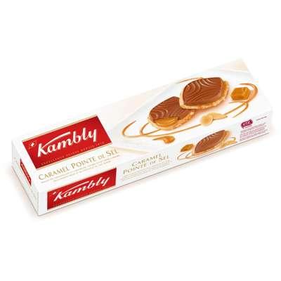 Печенье карамелизованное с солью и молочным шоколадом Caramel Pointe de Sel Kambly 100 гр, фото 1