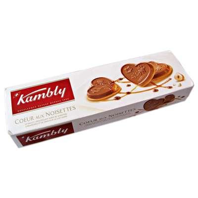 Печенье с фундуком карамелью и молочным шоколадом Coeur aux noisettes Kambly 100 гр, фото 2