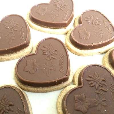 Печенье с фундуком карамелью и молочным шоколадом Coeur aux noisettes Kambly 100 гр, фото 4