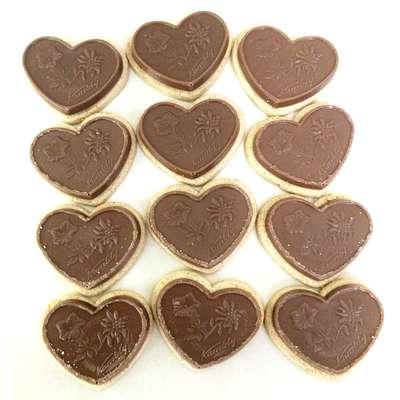 Печенье с фундуком карамелью и молочным шоколадом Coeur aux noisettes Kambly 100 гр, фото 5