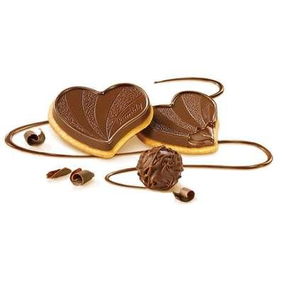 Печенье с трюфельной начинкой и горьким шоколадом Coeur Truffe Kambly 100 гр, фото 2