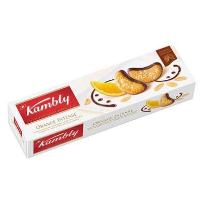 Печенье миндальное с апельсиновым кремом и шоколадом Orange Intense Kambly 100 гр, фото 1