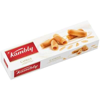 Печенье миндальное трубочки Caprice Kambly 100 гр, фото 1