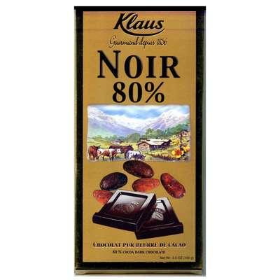 Шоколад горький 80% какао Klaus 100 гр, фото 1