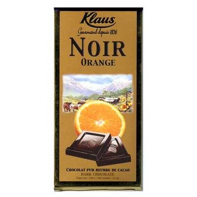 Шоколад горький с апельсином Klaus 100 гр, фото 1