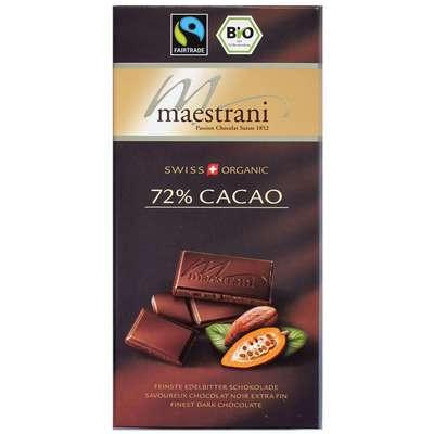 Горький шоколад 72% какао Maestrani 80 гр, фото 2