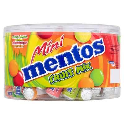 Жевательные конфеты Mentos Mini Fruit Mix 10,5 гр упаковка 70 штук, фото 1