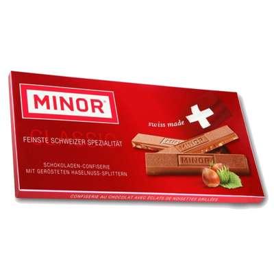 Молочный шоколад с кусочками фундука Minor 80 гр, фото 1