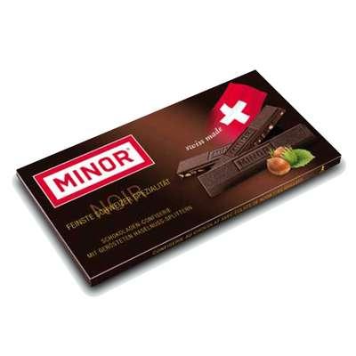 Горький шоколад с кусочками фундука Minor 80 гр, фото 1