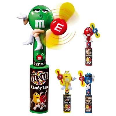 Игрушка светящийся вентилятор и драже Candy Fan M&M's, фото 1