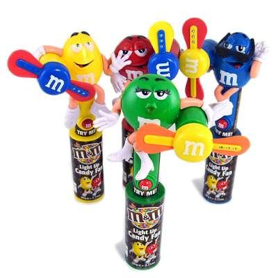 Игрушка светящийся вентилятор и драже Candy Fan M&M's, фото 2