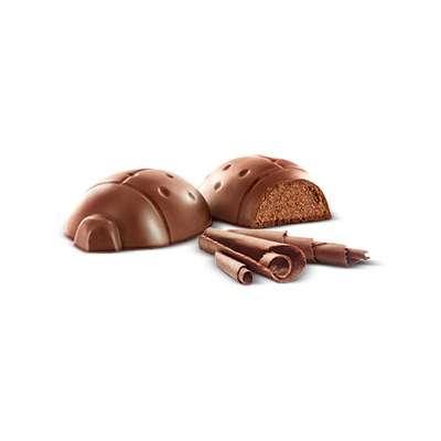 Конфеты из молочного шоколада с пралине Божья Коровка по 4,7 гр Munz 100 гр, фото 4