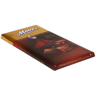 Горький шоколад 70% какао Munz 100 гр, фото 2