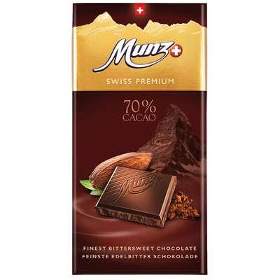 Горький шоколад 70% какао Munz 100 гр, фото 1