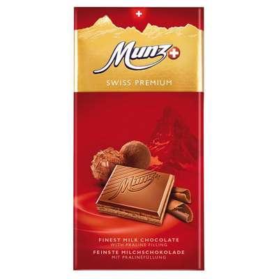 Молочный шоколад с начинкой пралине Munz 100 гр, фото 1