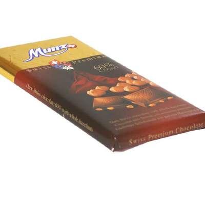 Горький шоколад 60% какао с обжаренным фундуком Munz 100 гр, фото 2