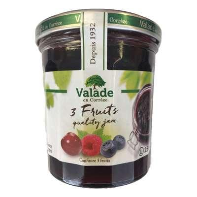 Джем из малины черники вишни Valade 370 гр, фото 1