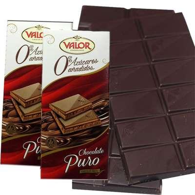 Темный шоколад без сахара Valor 100 гр, фото 2