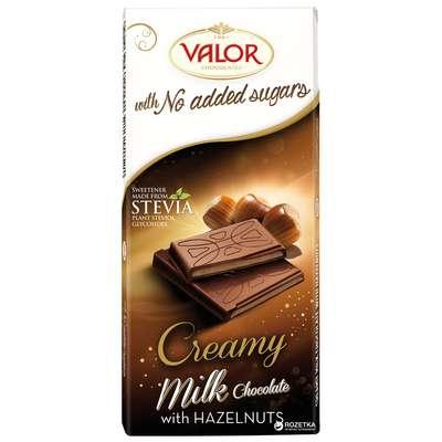 Молочный шоколад с кремом из фундука без сахара Valor 100 гр, фото 2