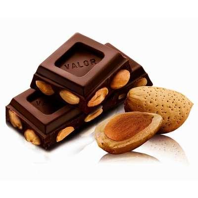 Темный шоколад с миндалем без сахара Valor 150 гр, фото 3